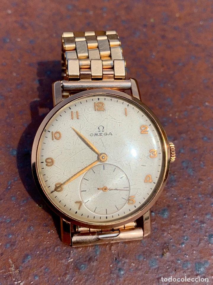 Relojes - Omega: Reloj Omega Caja Oro 18kt / Armis Plaqué Oro. Cal.30T2. 35mm. 15 Jewels. Box. 1944. Funcionando MBE - Foto 24 - 201109701