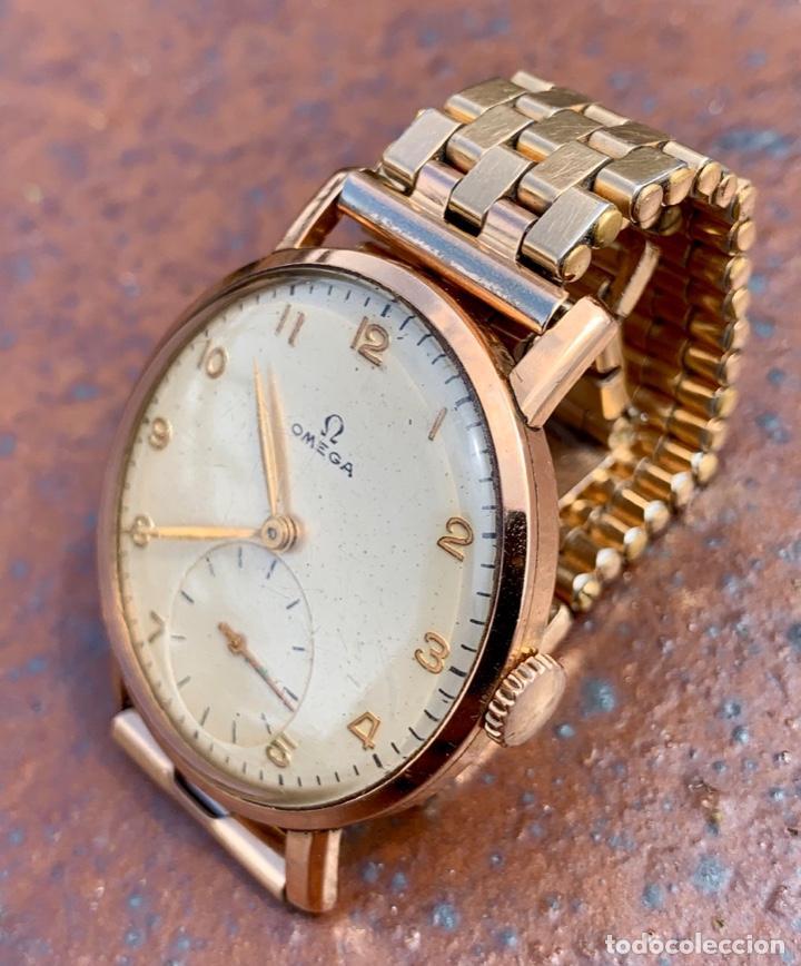 Relojes - Omega: Reloj Omega Caja Oro 18kt / Armis Plaqué Oro. Cal.30T2. 35mm. 15 Jewels. Box. 1944. Funcionando MBE - Foto 26 - 201109701