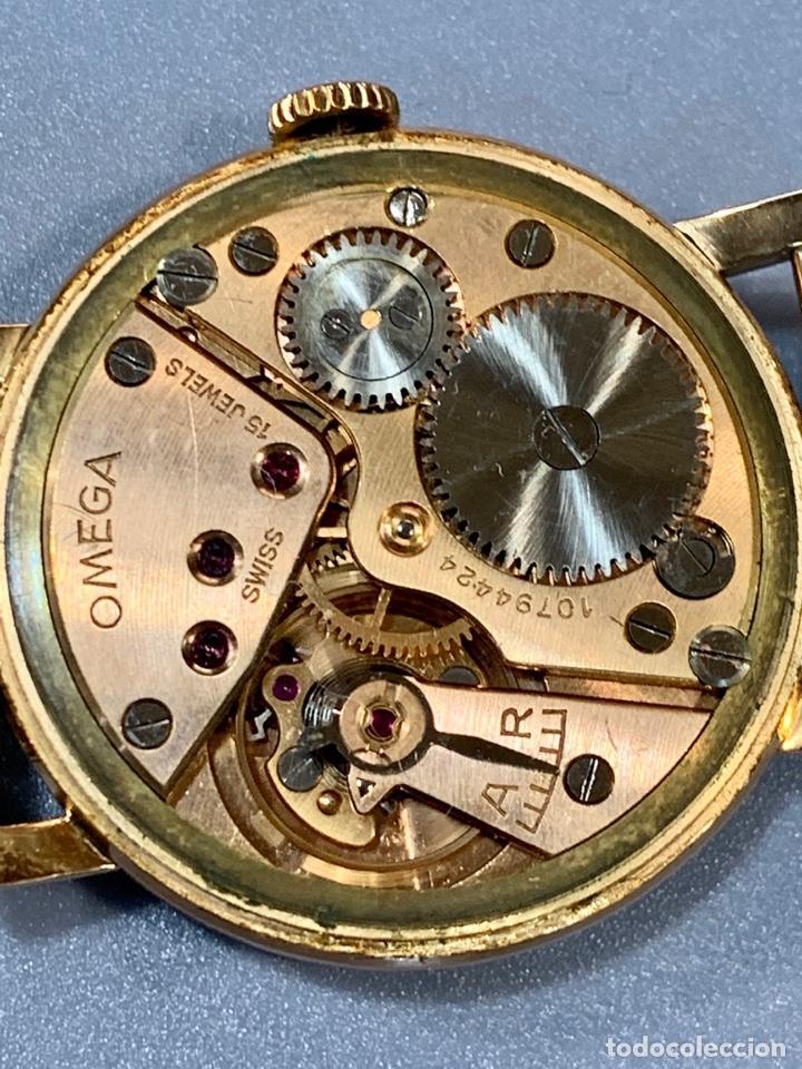 Relojes - Omega: Reloj Omega Caja Oro 18kt / Armis Plaqué Oro. Cal.30T2. 35mm. 15 Jewels. Box. 1944. Funcionando MBE - Foto 33 - 201109701