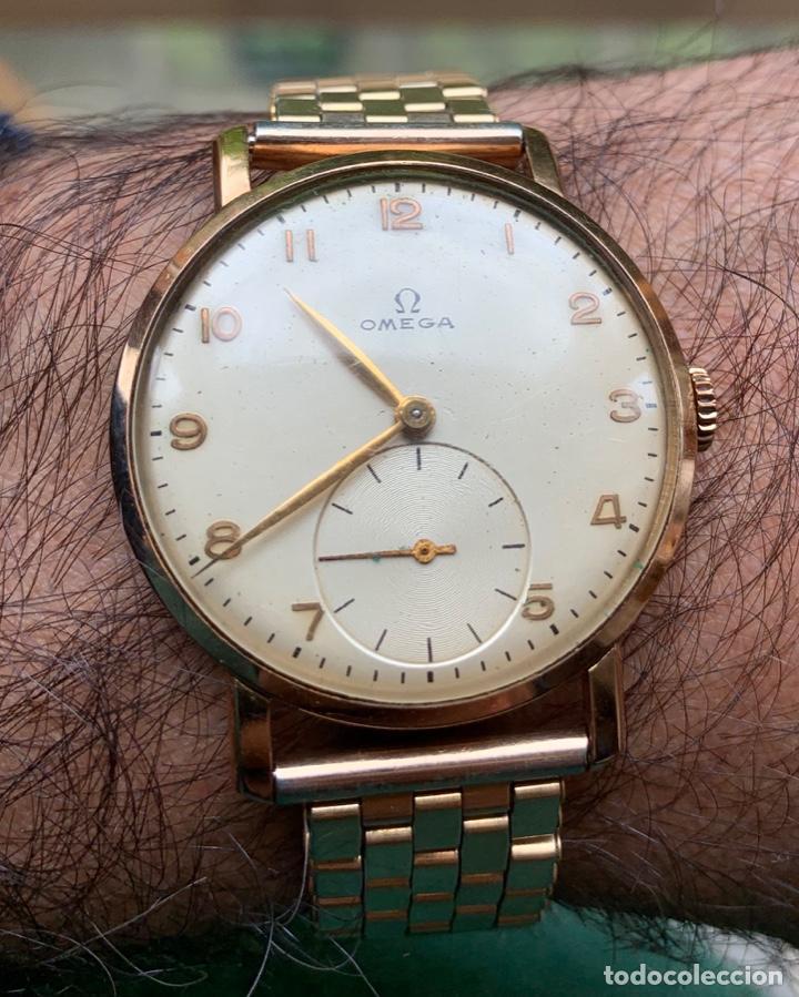 Relojes - Omega: Reloj Omega Caja Oro 18kt / Armis Plaqué Oro. Cal.30T2. 35mm. 15 Jewels. Box. 1944. Funcionando MBE - Foto 38 - 201109701