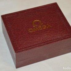 Relojes - Omega: PRECIOSA CAJA RELOJ OMEGA - OMEGA - COLOR ROJO OSCURO - PRECIOSA - ¡MIRA FOTOS Y DETALLES!. Lote 205530056