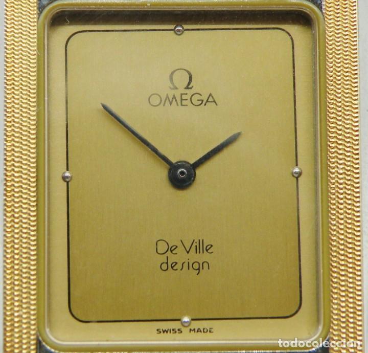Relojes - Omega: RELOJ OMEGA CAJA DE ACERO Y ORO. UNISEX CASI NUEVO - Foto 3 - 205611485