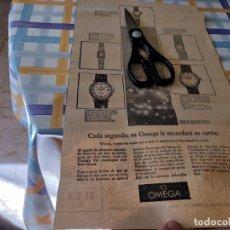 Relojes - Omega: RELOJ OMEGA GRAN Y ANTIGUO ANUNCIO PUBLICIDAD PERIÓDICO 1965. Lote 209038073