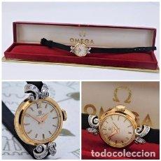 Relojes - Omega: OMEGA-ORO-PLATINO Y DIAMANTES-ELEGANTE RELOJ DE PULSERA-CARGA MANUAL-CIRCA 1947-1954-FUNCIONANDO. Lote 213662811