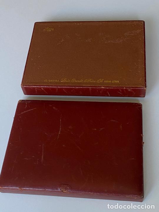 Relojes - Omega: estuche de reloj omega , antiguo y original , vacío . color marrón , loewe - Foto 3 - 216595070