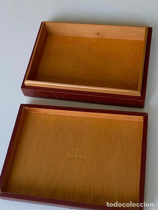 Relojes - Omega: estuche de reloj omega , antiguo y original , vacío . color marrón , loewe - Foto 5 - 216595070