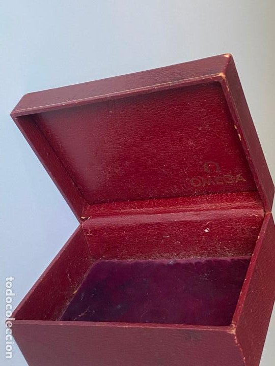 Relojes - Omega: estuche de reloj omega , antiguo y original , vacío . color burdeos , 14 x 10,2 x 6,3 cm. , - Foto 4 - 216595726