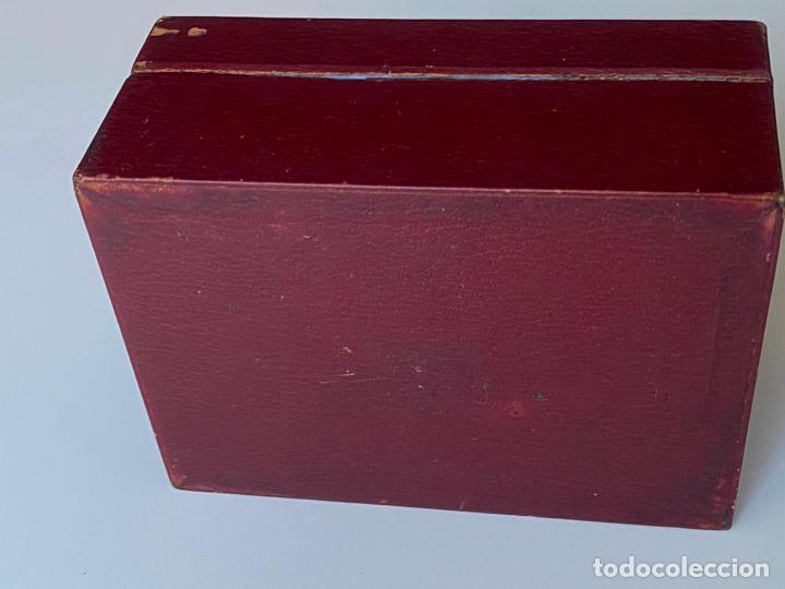 Relojes - Omega: estuche de reloj omega , antiguo y original , vacío . color burdeos , 14 x 10,2 x 6,3 cm. , - Foto 5 - 216595726