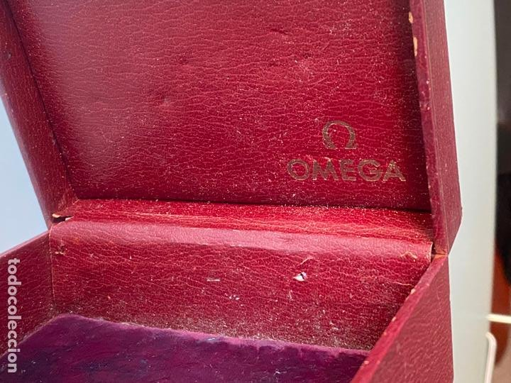 Relojes - Omega: estuche de reloj omega , antiguo y original , vacío . color burdeos , 14 x 10,2 x 6,3 cm. , - Foto 6 - 216595726