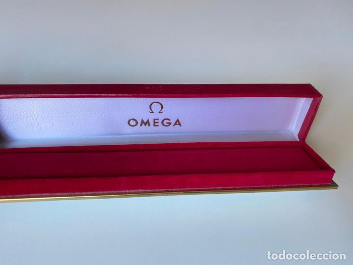 Relojes - Omega: estuche de reloj omega , antiguo y original , vacío . color rojo , - Foto 3 - 216596040