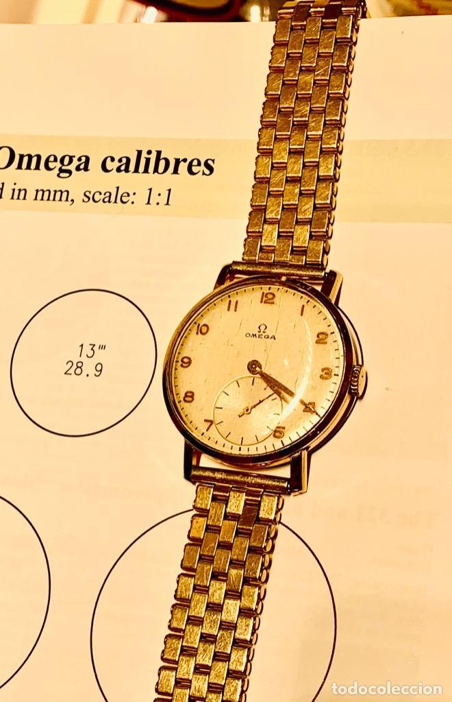 Relojes - Omega: Reloj Omega Caja Oro 18kt / Armis Plaqué Oro. Cal.30T2. 35mm. 15 Jewels. Box. 1944. Funcionando MBE - Foto 39 - 201109701