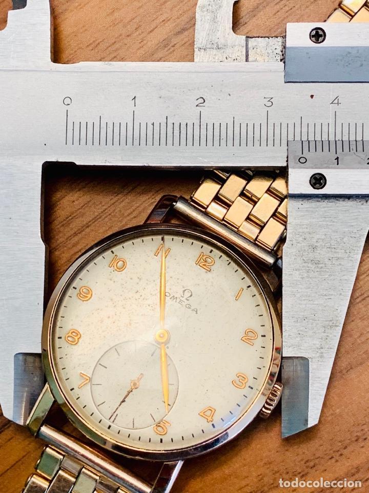 Relojes - Omega: Reloj Omega Caja Oro 18kt / Armis Plaqué Oro. Cal.30T2. 35mm. 15 Jewels. Box. 1944. Funcionando MBE - Foto 42 - 201109701