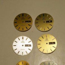 Relojes - Omega: LOTE DE SIETE ESFERAS OMEGA. Lote 219199251