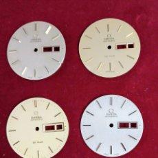 Relojes - Omega: SEIS ESFERAS OMEGA CHAPADAS EN ORO. Lote 221570860