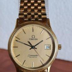 Relojes - Omega: RELOJ CABALLERO (VINTAGE) OMEGA SEAMASTER JUBILEE CUARZO CHAPADO DE ORO, CORREA ORIGINAL CHAPADA ORO. Lote 222357553
