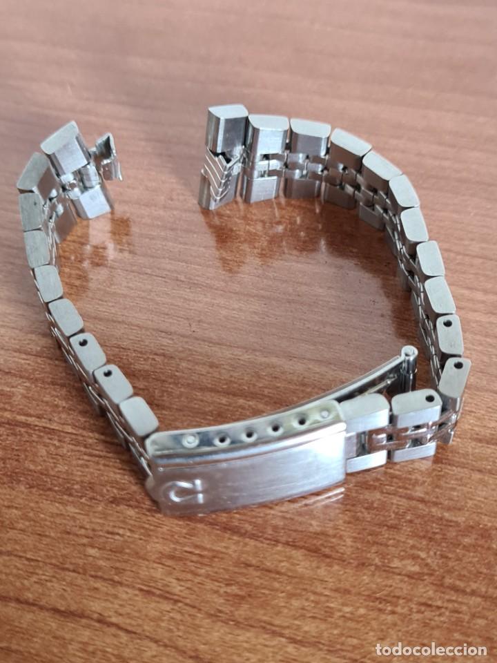Relojes - Omega: Correa señora OMEGA de acero original Omega 16cm de largo, ancho 16mm y ancho asa 6,5 mm, 596 - 296. - Foto 2 - 224115826