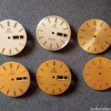 Relojes - Omega: SEIS ESFERAS OMEGA PARA RELOJ DE CABALLERO. Lote 233817235