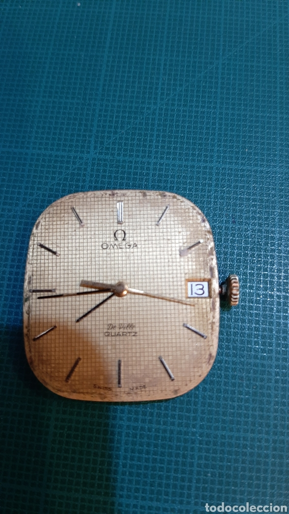 Relojes - Omega: OMEGA MÁQUINA RELOG ORO MODELO 1332 PILA FUNCIONANDO AJUSTAR AGUJAS ANTIGÜEDADES O ALMACÉN DO COLIS - Foto 2 - 234520920