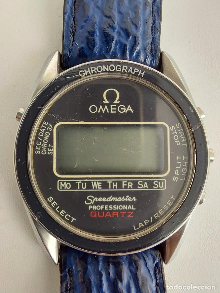 Relojes - Omega: RELOJ OMEGA SPEEDMASTER PROFESSIONAL QUARTZ CRONOGRAPH LCD - 1860004 - ALASKA IV PROTOTIPO NASA - FU - Foto 2 - 235574650