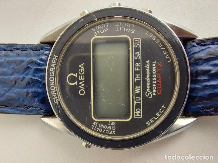 Relojes - Omega: RELOJ OMEGA SPEEDMASTER PROFESSIONAL QUARTZ CRONOGRAPH LCD - 1860004 - ALASKA IV PROTOTIPO NASA - FU - Foto 11 - 235574650
