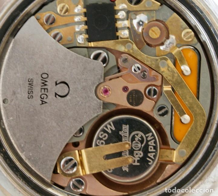Relojes - Omega: RARO RELOJ OMEGA MEGAQUARTZ 32KHZ 196.0033 TODO ORIGINAL 39MM FUNCIONANDO JUMBO - Foto 13 - 239445495