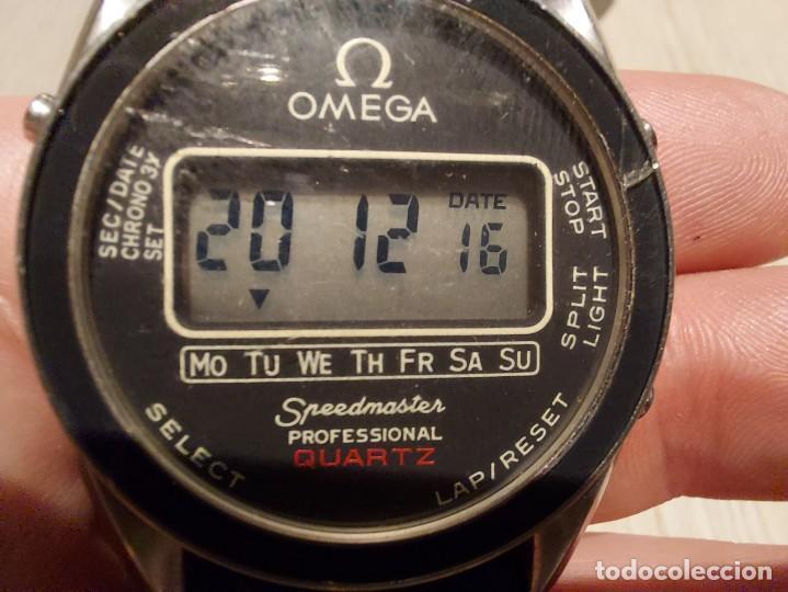 Relojes - Omega: RELOJ OMEGA SPEEDMASTER PROFESSIONAL QUARTZ CRONOGRAPH LCD - 1860004 - ALASKA IV PROTOTIPO NASA - FU - Foto 24 - 235574650