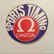 Orologi - Omega: ANTIGUA PEGATINA RELOJ OMEGA SPORTS TIMING. CONOMETRO. Lote 243003075