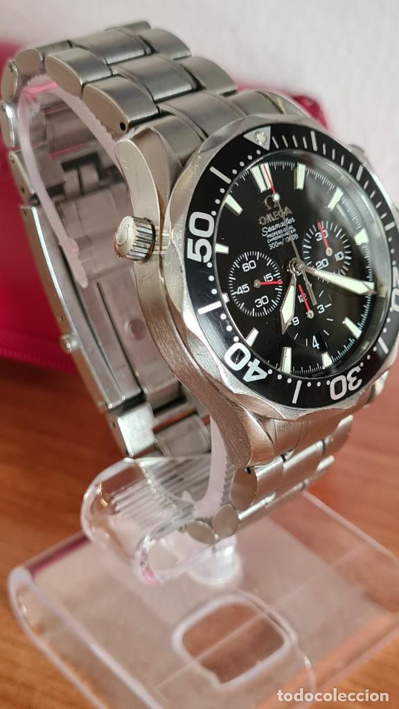 Relojes - Omega: Reloj caballero OMEGA Seamaster professional 300m, esfera negra, calendario, bisel giratorio. - Foto 7 - 243444865