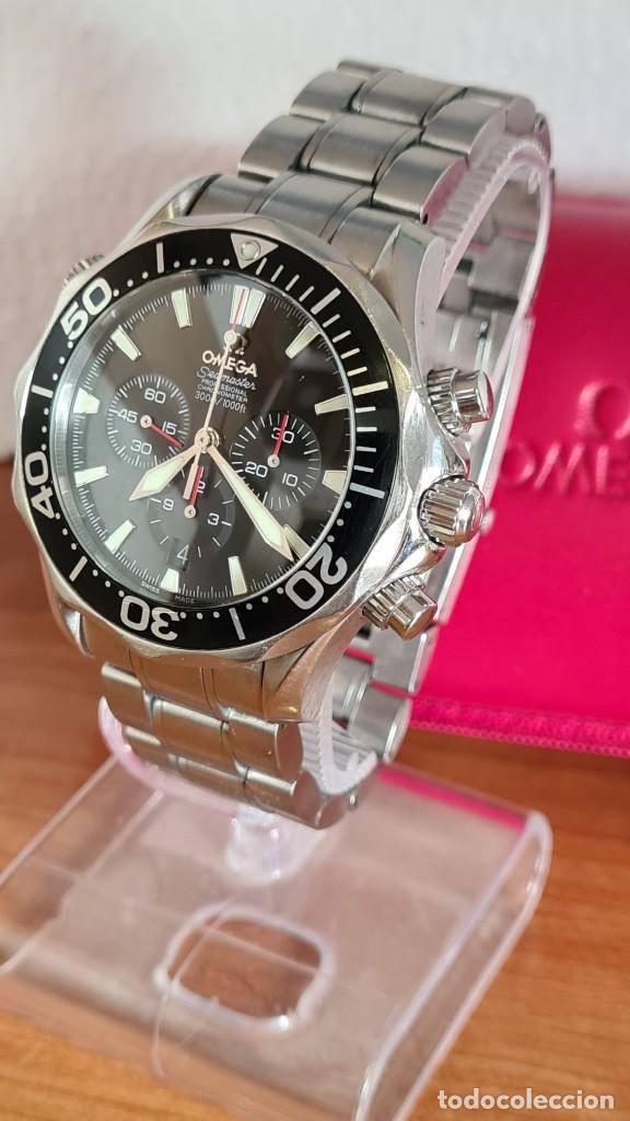 Relojes - Omega: Reloj caballero OMEGA Seamaster professional 300m, esfera negra, calendario, bisel giratorio. - Foto 13 - 243444865