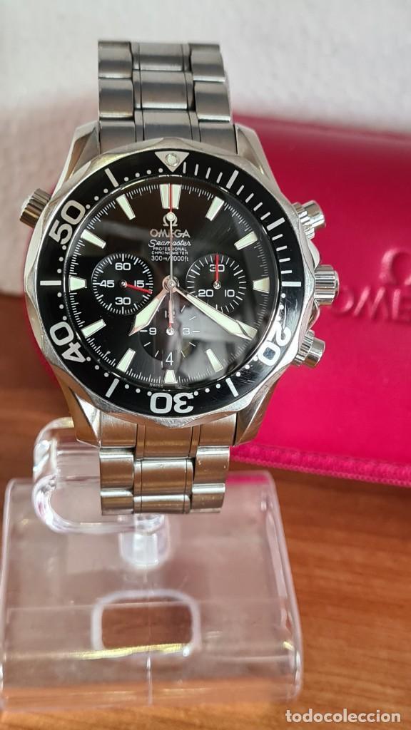 Relojes - Omega: Reloj caballero OMEGA Seamaster professional 300m, esfera negra, calendario, bisel giratorio. - Foto 17 - 243444865