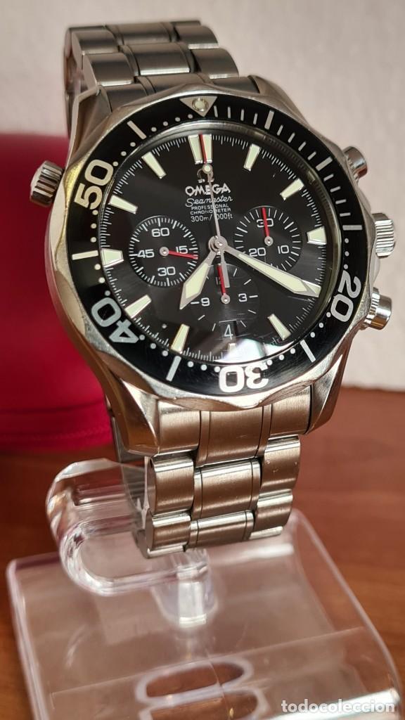 Relojes - Omega: Reloj caballero OMEGA Seamaster professional 300m, esfera negra, calendario, bisel giratorio. - Foto 19 - 243444865