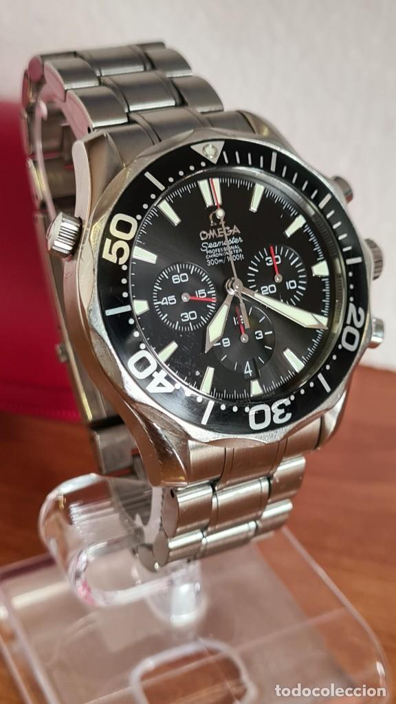 Relojes - Omega: Reloj caballero OMEGA Seamaster professional 300m, esfera negra, calendario, bisel giratorio. - Foto 21 - 243444865