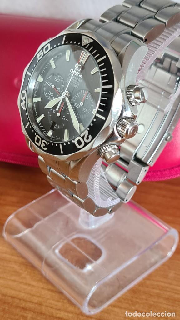 Relojes - Omega: Reloj caballero OMEGA Seamaster professional 300m, esfera negra, calendario, bisel giratorio. - Foto 23 - 243444865