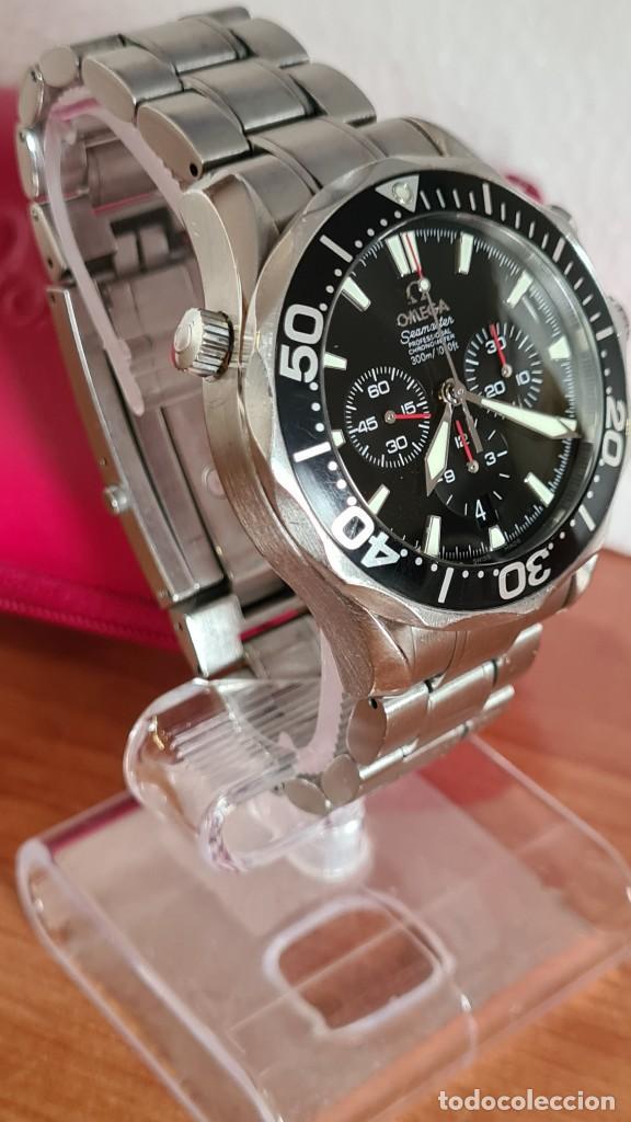 Relojes - Omega: Reloj caballero OMEGA Seamaster professional 300m, esfera negra, calendario, bisel giratorio. - Foto 24 - 243444865