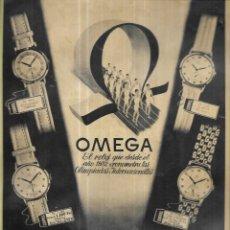 Montres - Omega: ANUNCIO * RELOJ OMEDA * AÑO 1948. Lote 251643640
