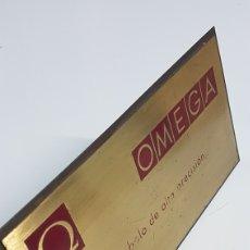 Relojes - Omega: CARTEL METALICO PUBLICIDAD RELOJES OMEGA. Lote 252551955