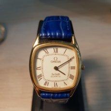 Relojes - Omega: RELOJ CUARZO OMEGA DE VILLE CHAPADO EN ORO 20 MICRAS . CORREA COCODRILO . SEÑORA . FUNCIONANDO. Lote 255994865