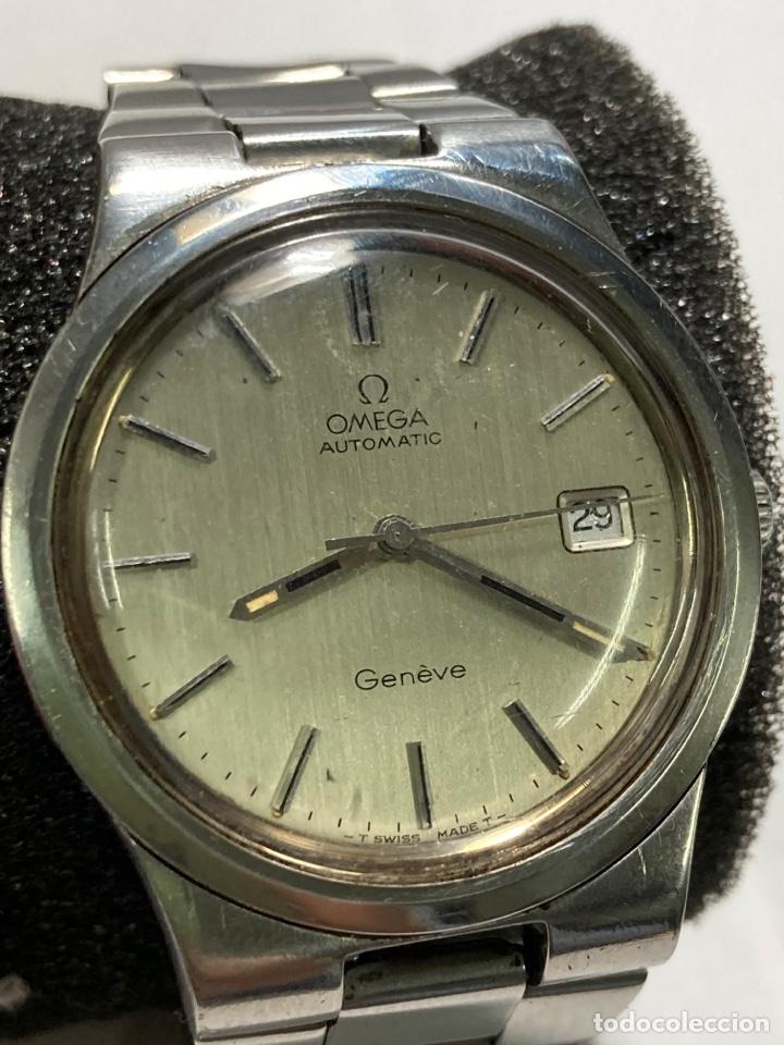 RELOJ OMEGA GENEVE AUTOMATIC ACERO COMPLETO TODO ORIGINAL EN FUNCIONAMIENTO (Relojes - Relojes Actuales - Omega)