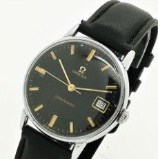 Relojes - Omega: RELOJ DE CUERDA OMEGA SEAMASTER DATE NEGRO CALIBRE 610 VINTAGE 34MM DE 1962 - DE SEGUNDA MANO. Lote 267925174