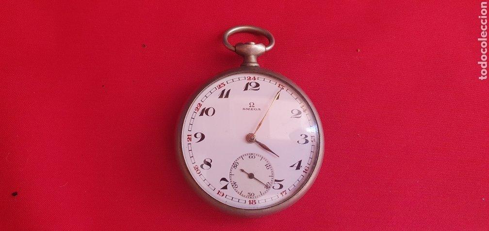 RELOJ OMEGA DE BOLSILLO NO FUNCIONA Y LE FALTA LA CORONA .MIDE 48.5 MM DIAMETRO (Relojes - Relojes Actuales - Omega)