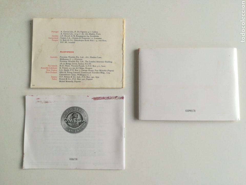 Relojes - Omega: Lote de 3 libritos OMEGA. - Foto 2 - 288361683