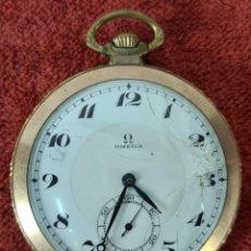 Relojes - Omega: RELOJ DE BOLSILLO OMEGA. CAJA EN METAL CHAPADO EN ORO. SUIZA. CIRCA 1930.. Lote 295450398