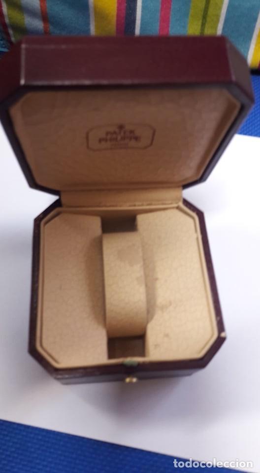 CAJA ORIGINAL DE PIEL PARA RELOJ PATEK PHILIPPE MAUTILUS VINTAGE GENEVE SWISS RESER C..E VALENCIA (Relojes - Relojes Actuales - Patek)