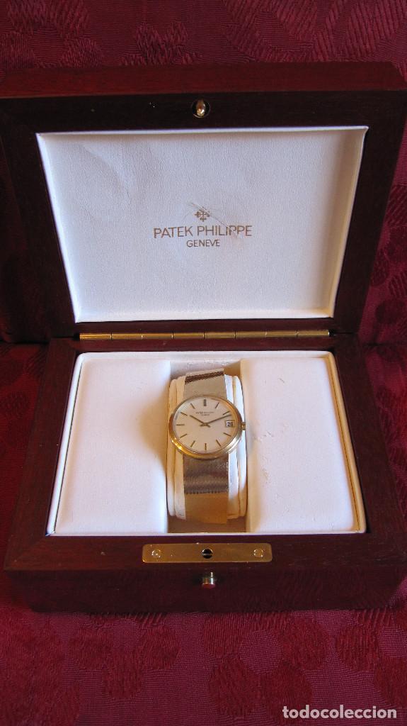 PATEK PHILIPPE AUTOMATICO DE CABALLERO TODO 18K. ESTUCHE. FUNCIONANDO (Relojes - Relojes Actuales - Patek)
