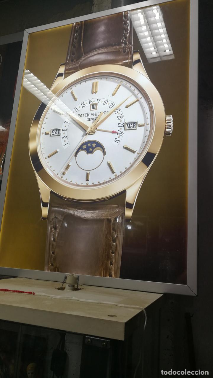 Relojes - Patek: CUADRO, CARTEL grande LUMINOSO DE PUBLICIDAD RELOJ PATEK PHILIPPE, DE EXPOSICION INTERIOR y ....... - Foto 23 - 231179490