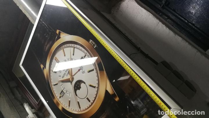 Relojes - Patek: CUADRO, CARTEL grande LUMINOSO DE PUBLICIDAD RELOJ PATEK PHILIPPE, DE EXPOSICION INTERIOR y ....... - Foto 33 - 231179490