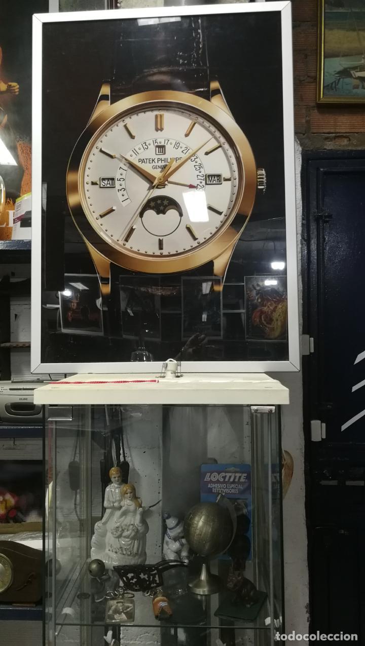 Relojes - Patek: CUADRO, CARTEL grande LUMINOSO DE PUBLICIDAD RELOJ PATEK PHILIPPE, DE EXPOSICION INTERIOR y ....... - Foto 41 - 231179490
