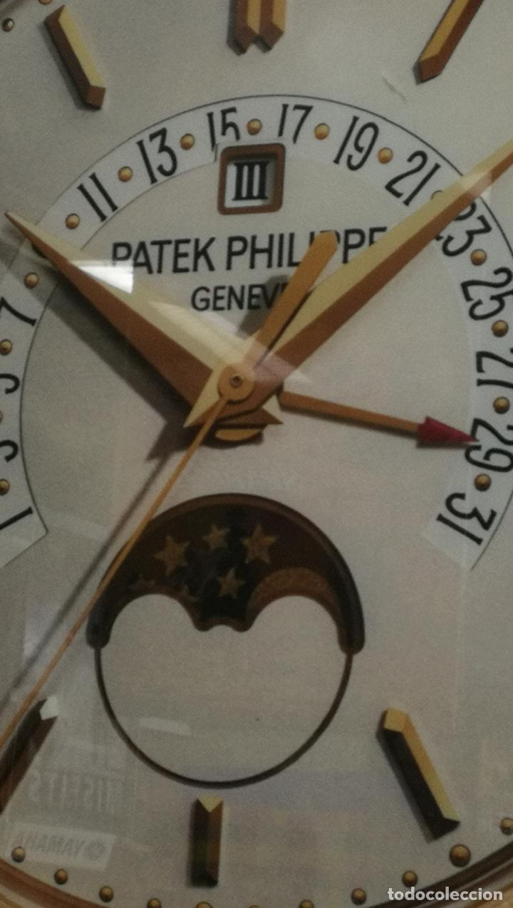 Relojes - Patek: CUADRO, CARTEL grande LUMINOSO DE PUBLICIDAD RELOJ PATEK PHILIPPE, DE EXPOSICION INTERIOR y ....... - Foto 47 - 231179490