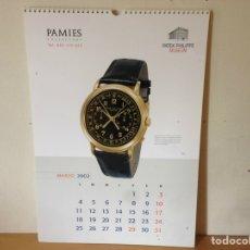 Relojes - Patek: PATEK PHILIPPE - CALENDAR 2002 PATEK PHILIPPE & PAMIES COLLECTORS CALENDARIO 2002 - NUEVO. Lote 251910720