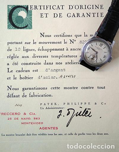 PATEK PHILIPPE CALATRAVA, FRECCERO + CERTIFICAT D'ORIGINE. MONTEVIDEO, 1938 (Relojes - Relojes Actuales - Patek)